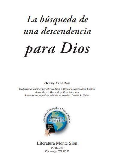 Kenaston – La búsqueda de una descendencia para Dios